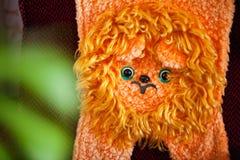 苏联的长毛绒橙色狮子 免版税库存图片