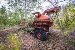 苏联的集体农庄在切尔诺贝利区域 免版税库存照片