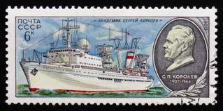 苏联研究船`院士谢尔盖・帕夫洛维奇・科罗廖夫`,大约1980年 库存照片