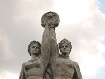苏联纪念碑 免版税库存图片