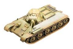 苏联老T-34坦克模型  免版税图库摄影