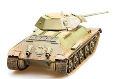 苏联老T-34坦克模型  库存照片