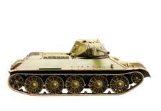 苏联老T-34坦克模型  免版税库存图片