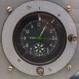 苏联航天器的仪表板手表 免版税库存图片