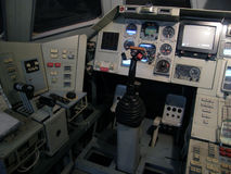 苏联航天飞机Buran驾驶舱  免版税库存照片