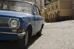 苏联蓝色汽车 免版税库存图片