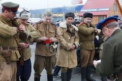 苏联被授予的奖牌的战士 库存图片
