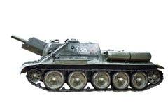 苏联被隔绝的坦克自走火炮 图库摄影