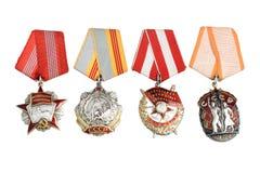 苏联被隔绝的命令和奖 图库摄影