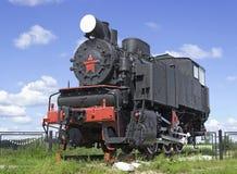 苏联转轨的机车 免版税库存照片