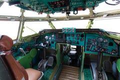 苏联轰炸机飞机内部 免版税库存照片