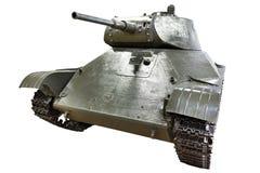 苏联轻型坦克T-50被隔绝的白色 免版税库存图片