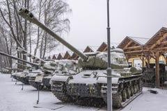 苏联重的坦克IS-2 免版税库存照片