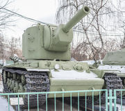 苏联重的坦克KV-2,年发行- 1940年 库存照片
