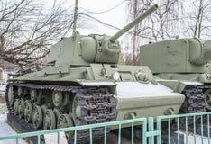 苏联重的坦克KV-1,年生产- 1941年 免版税库存照片