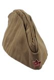 苏联陆军战士草料盖帽。 免版税库存图片