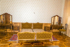 苏联领导(斯大林, Kh的前国家的卧室 免版税库存照片