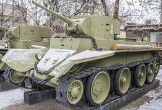 苏联轻型坦克BT-7,年发行- 1935年 库存照片