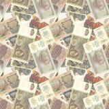 苏联货币无缝的纹理 免版税库存照片