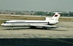 苏航图波列夫TU-154B2 CCCP-85570在布拉格 库存照片