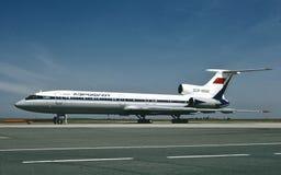 苏航图波列夫TU-154B2 CCCP-85662在布拉格 图库摄影