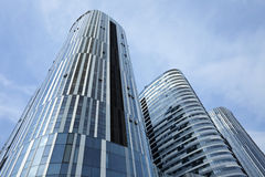 苏荷区三里屯地区的摩天大楼,北京,中国 免版税库存照片