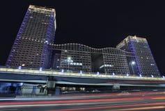 苏荷区新市镇地区在晚上,北京,中国 免版税库存图片