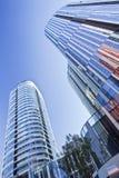 苏荷区的三里屯,北京,中国五颜六色的摩天大楼 免版税库存图片