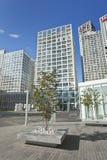 苏荷区Jianwai地区的摩天大楼,北京,中国 免版税库存照片