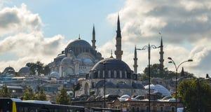 苏莱曼尼耶清真寺在伊斯坦布尔,土耳其 库存图片