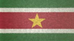 苏里南3D的原始的旗子图象 图库摄影