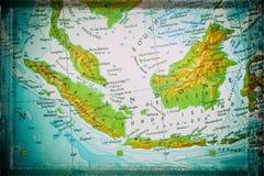 苏门答腊、Java和婆罗洲 图库摄影