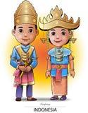 苏门答腊传统布料 免版税库存图片