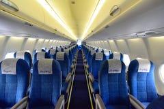 苏霍伊超音速喷气飞机100客舱在新加坡Airshow 免版税图库摄影