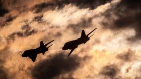 苏霍伊Su22 -飞行表演拉多姆2015年 免版税库存图片