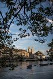 苏黎世市中心鸟瞰图  免版税图库摄影