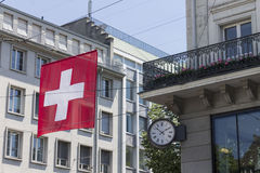 苏黎世瑞士历史大厦 免版税库存图片