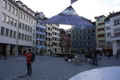 苏黎世老镇是一个文化,社会和历史熔炉在瑞士 免版税库存照片