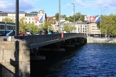 苏黎世老镇是一个文化,社会和历史熔炉在瑞士 库存图片