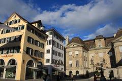 苏黎世老镇是一个文化,社会和历史熔炉在瑞士 图库摄影
