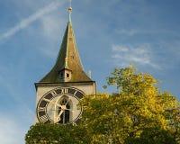 苏黎世(瑞士)老城镇视图。 免版税库存图片