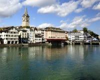 苏黎世(瑞士)老城镇视图。 图库摄影