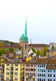 苏黎世和老房子,瑞士美丽的景色  库存图片