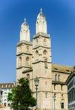 苏黎世大教堂,瑞士 库存图片