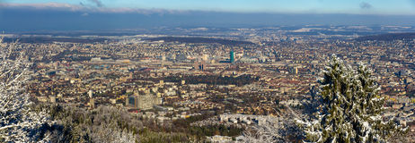苏黎世看法从Uetliberg山-瑞士的 库存照片