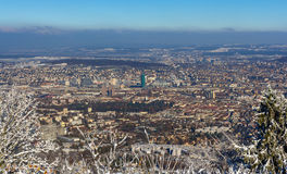 苏黎世看法从Uetliberg山-瑞士的 免版税图库摄影