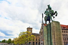 苏黎世纪念碑瑞士 免版税库存图片