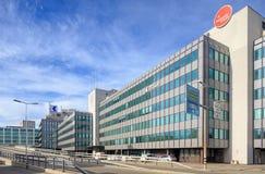 苏黎世,在Geroldstrasse的办公楼 免版税库存图片