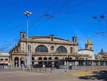 苏黎世主要火车站的大厦在市Zuric 免版税图库摄影