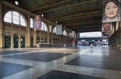 苏黎世主要火车站的霍尔 免版税图库摄影